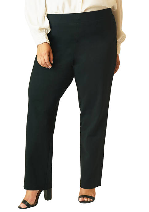 MAREE POUR TOI Plus Size Compression Straight Leg