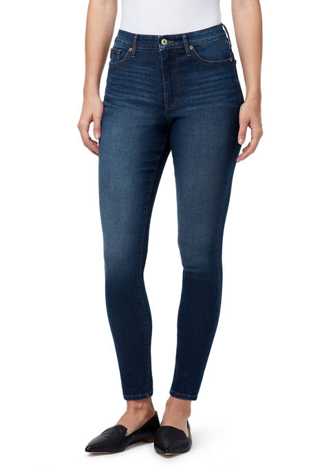 Womens Mid Rise Skinny Jeans- Average