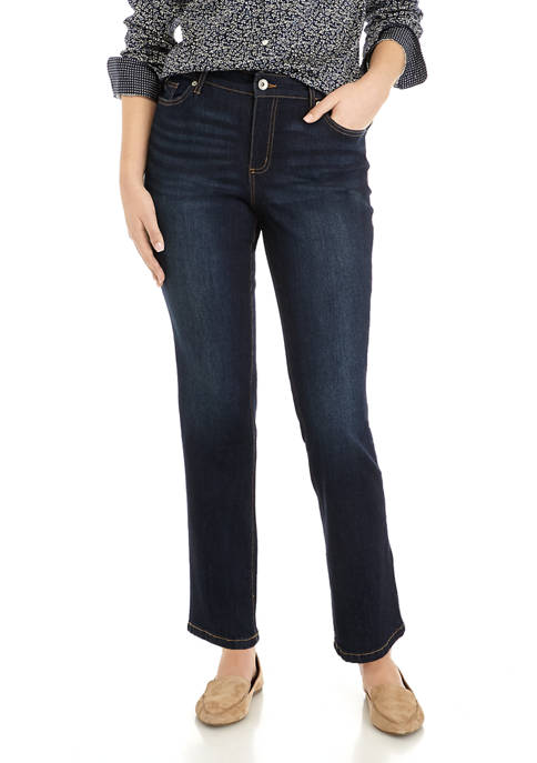 Chaps Womens Mid Rise Straight Jeans