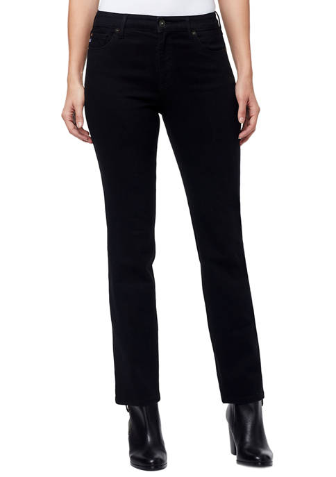 Mid Rise Straight Jeans in Long Length