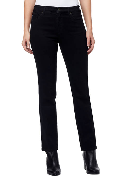 Mid Rise Straight Jeans in Average Length