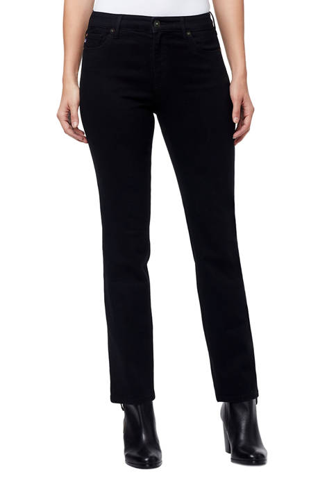 Mid Rise Straight Jeans in Short Length