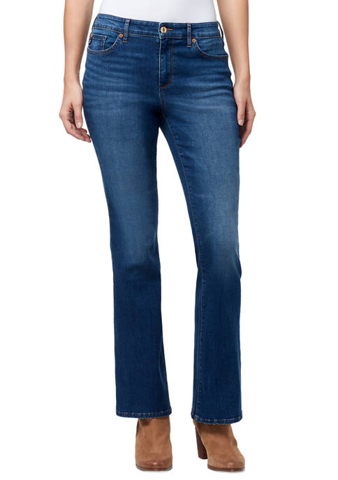 Chaps Mid Rise Bootcut Jeans in Short Length
