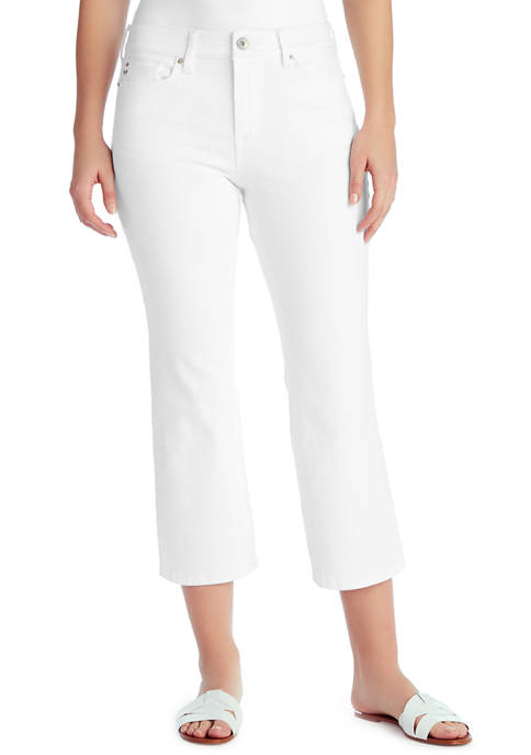 Mid Rise Crop Kick Jeans in Average Length