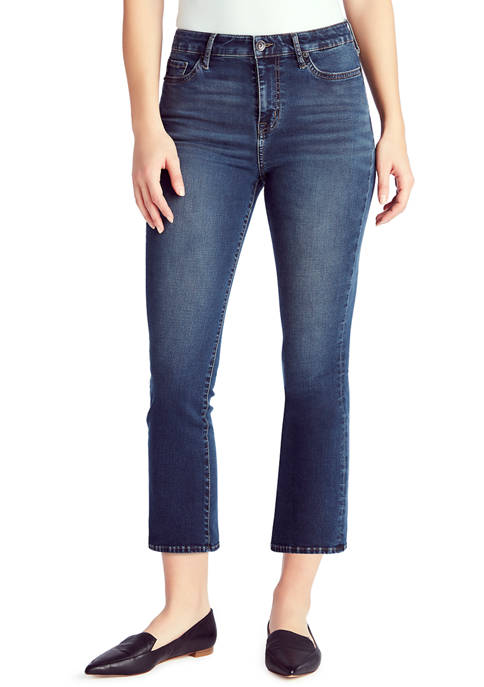 Chaps Mid Rise Crop Kick Jeans in Average