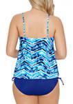 Ocean High Low Flounce Tankini Swim Top