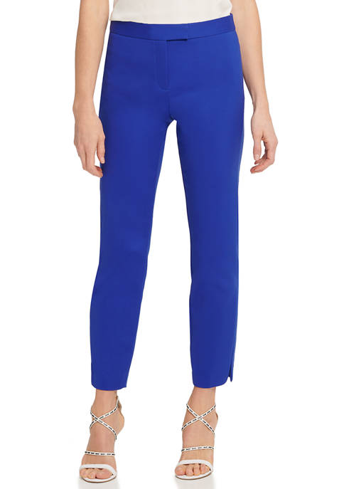 DKNY Womens Slim Trouser Pants