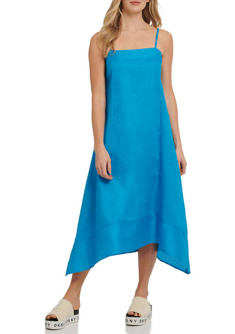 DKNY Linen Blend Cami Dress