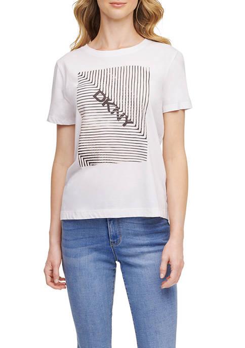 DKNY Graphic Glitter Logo T-Shirt