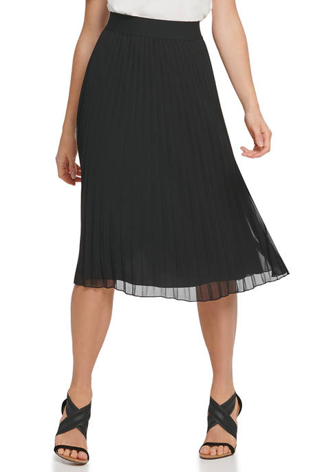 DKNY Womens Foundation Pull On Pleated Skirt