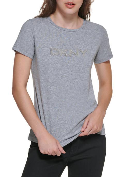 DKNY Diamante Logo T-Shirt