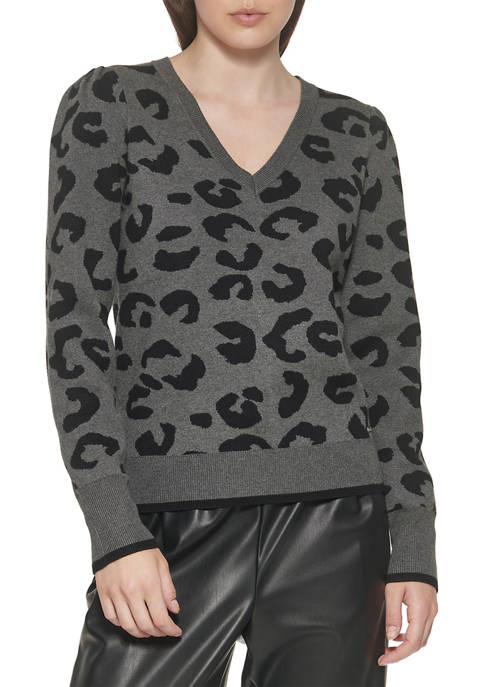 DKNY Animal Printed Sweater