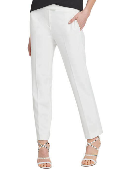 DKNY Womens Foundation Slim Pants with Side Slits