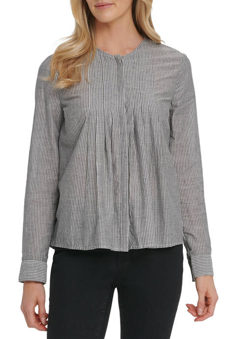 DKNY JEANS Womens Long Sleeve Peasant Blouse