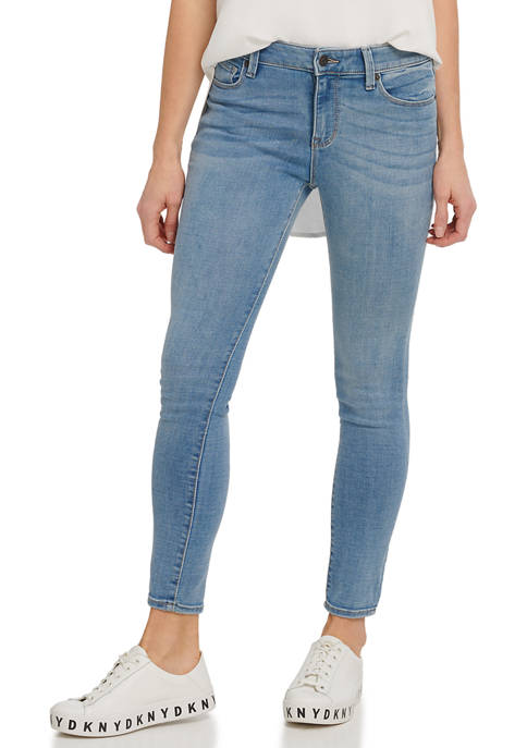 DKNY JEANS Womens Foundation High Rise Skinny Ankle