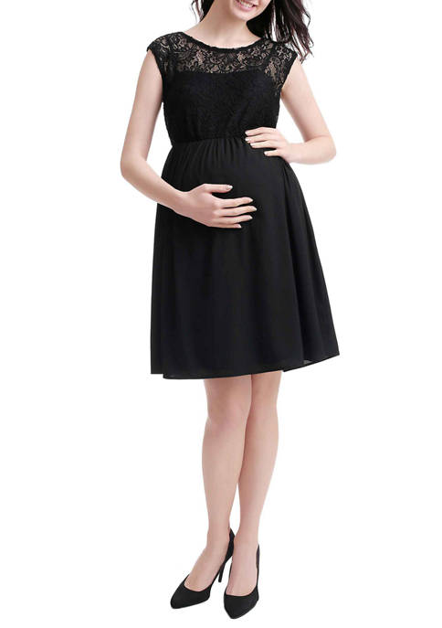 Maternity Genevieve Lace Skater Dress