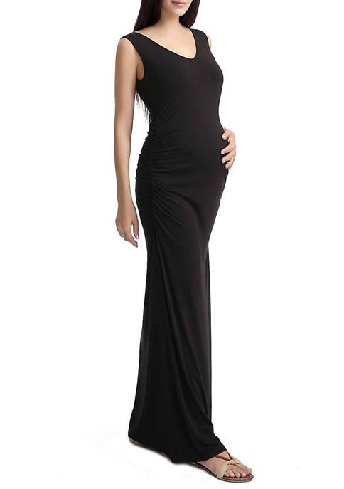 Maternity Jane Lace Back Maxi Dress
