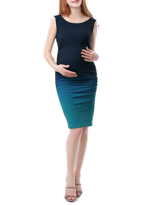 Maternity Sia Ombre Ruched Midi Dress