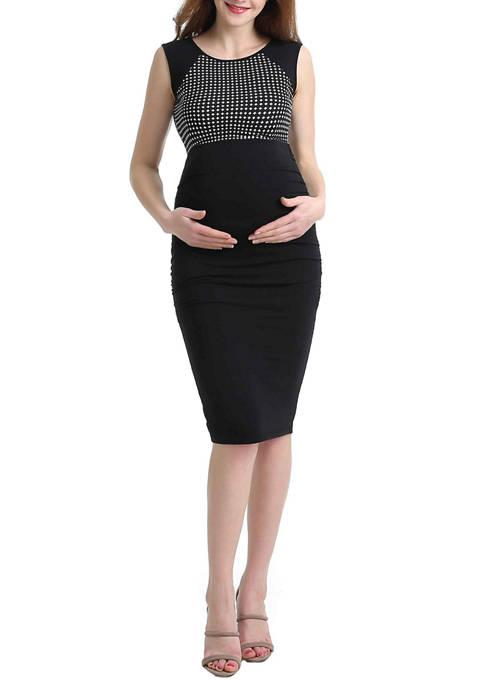 Kimi & Kai Maternity Lindsey Dot Midi Dress