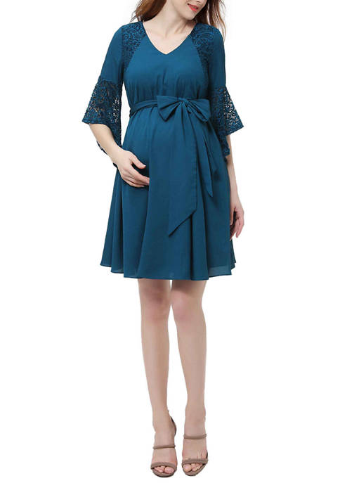 Kimi & Kai Maternity Abbey Bell Sleeve Dress
