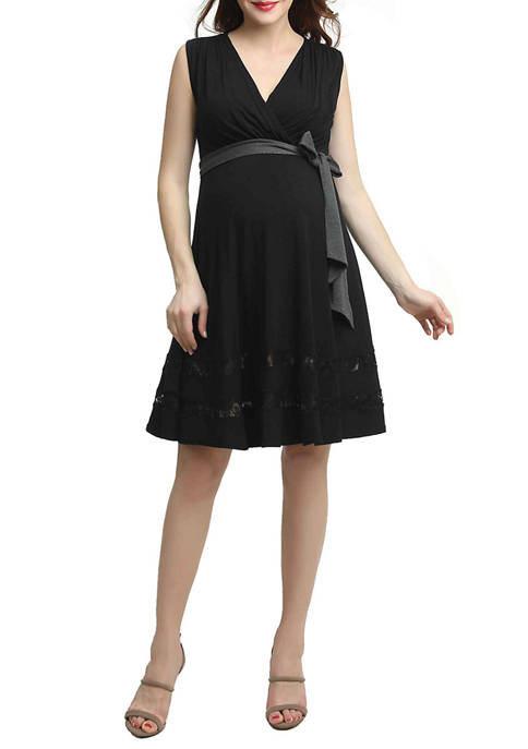 Maternity Marji Lace Accent Nursing Dress