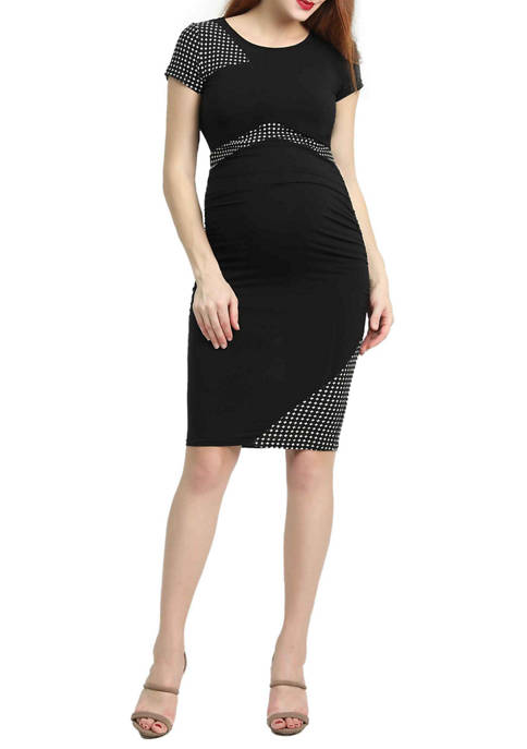 Maternity Gabby Colorblock Midi Dress