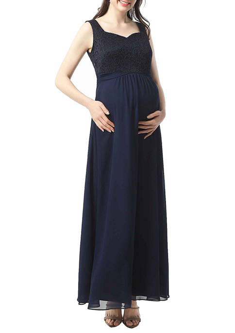 Maternity Kyra Lace Accent  Maxi Dress