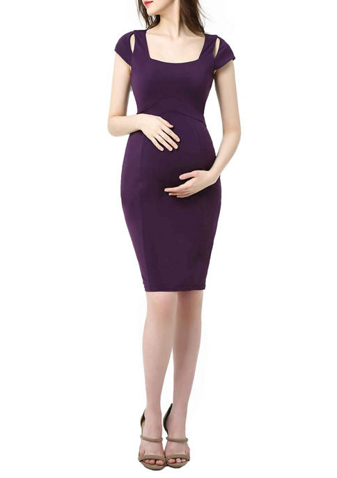 Maternity Julie Cold Shoulder Body-Con Dress
