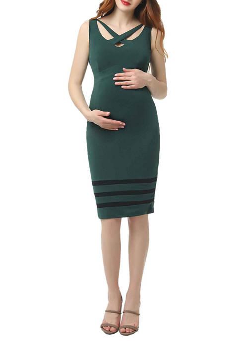 Kimi & Kai Maternity Valerie Body-Con Midi Dress