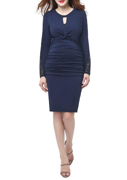 Maternity Vivian Ruched Midi Dress