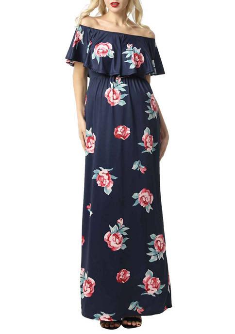 Maternity Maddison Nursing Maxi Dress