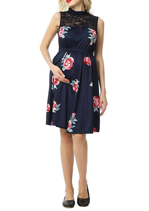 Maternity Cindy Floral Baby-doll Dress