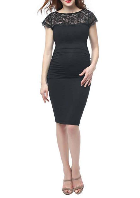 Maternity Morgan Lace Trim Bodycon Dress