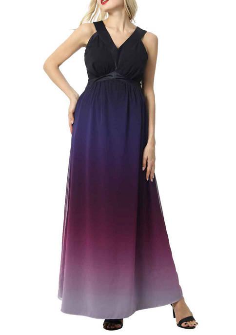 Maternity Valencia Ombre  Maxi Dress