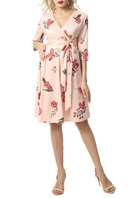 Maternity Althea Faux Wrap Nursing Dress