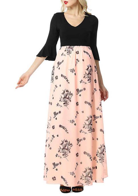 Maternity Zora Floral Maxi Dress
