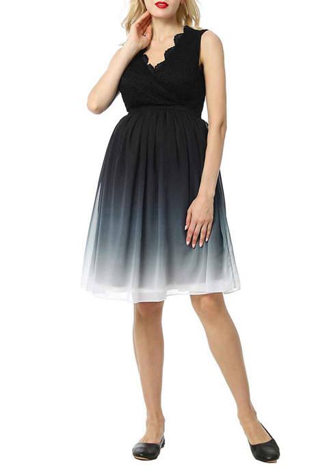 Maternity Steffy Lace Ombre Babydoll Dress