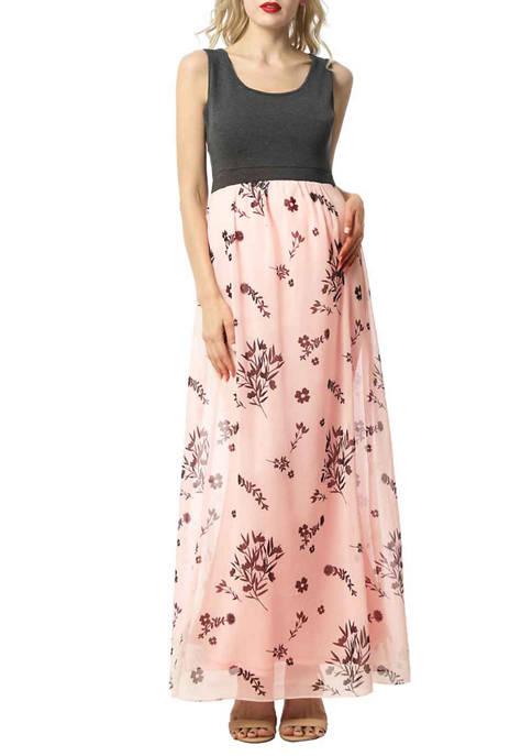 Kimi & Kai Maternity Miho Floral Maxi Dress
