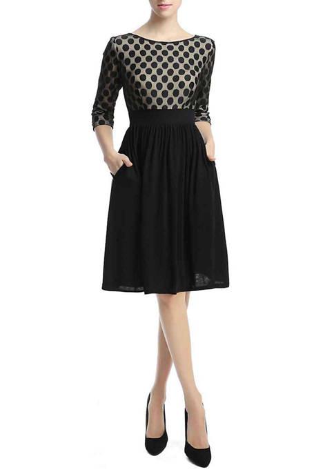 Womens Lace Overlay Sheath Dress