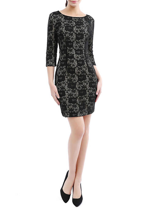 Womens Lace Sheath Dress