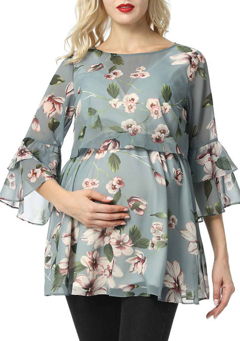 Kimi & Kai Maternity Audrey Nursing Floral Print