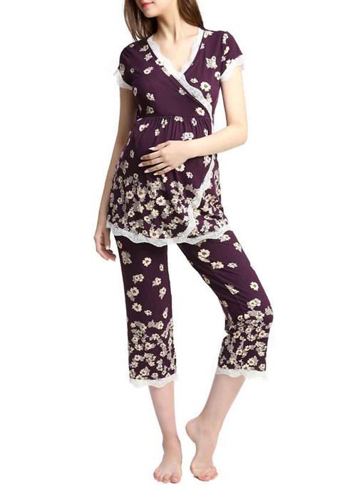 Kimi & Kai Maternity Nursing Addison Pajamas Sleepwear