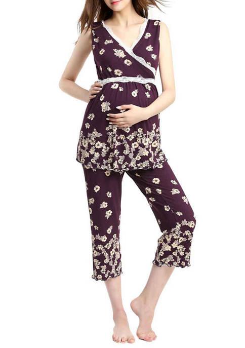 Kimi & Kai Maternity Nursing Loren Pajamas Sleepwear