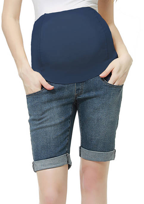 Kimi & Kai Maternity Abbie Denim Shorts