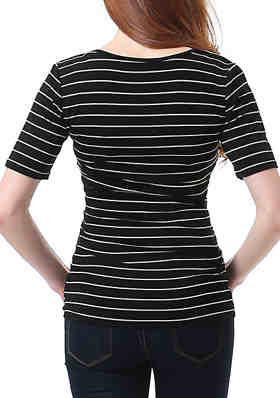 Womens Jersey Top T Shirt Empire Waist Short Sleeves.257 Chelsea Clark
