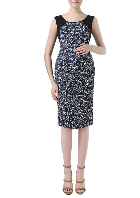 Kimi & Kai Maternity Bodycon Printed Dress