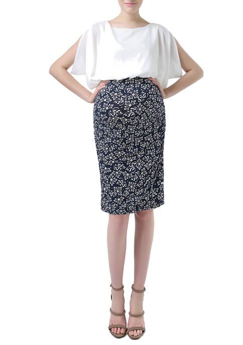 Kimi & Kai Maternity Dolman Sleeve Printed Maternit