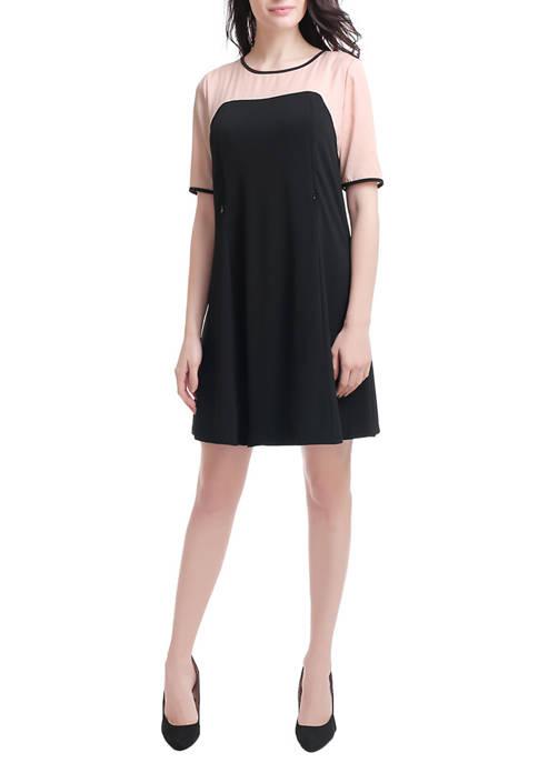 Maternity Colorblock /Nursing Dress