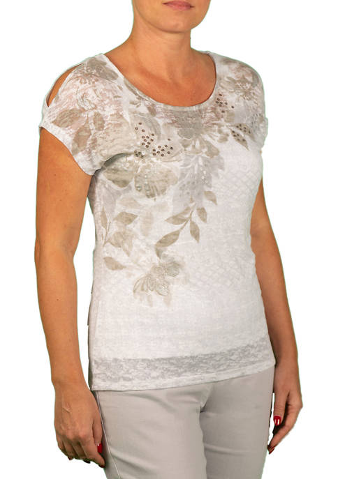 Hearts Of Palm Womens Bouquet Placement Top