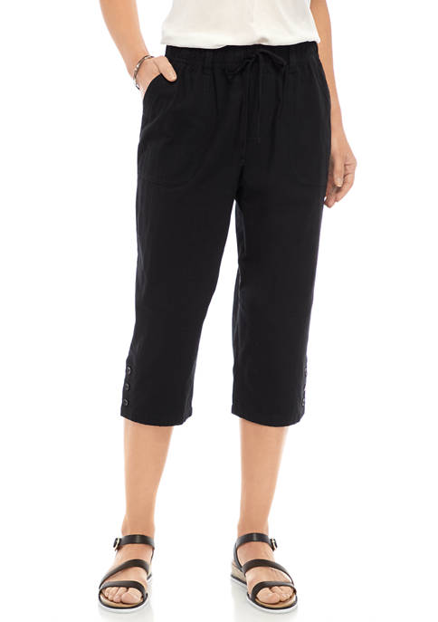 Gloria Vanderbilt Womens Cotton Capris